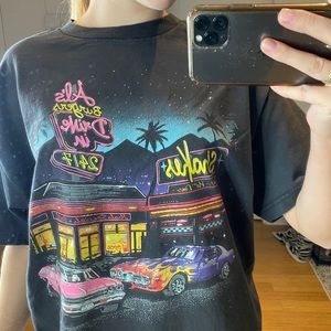 brandy melville diner graphic tee